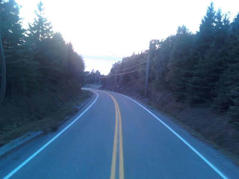 lignage route double ligne rural