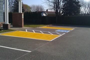marquage stationnement pour handicapé